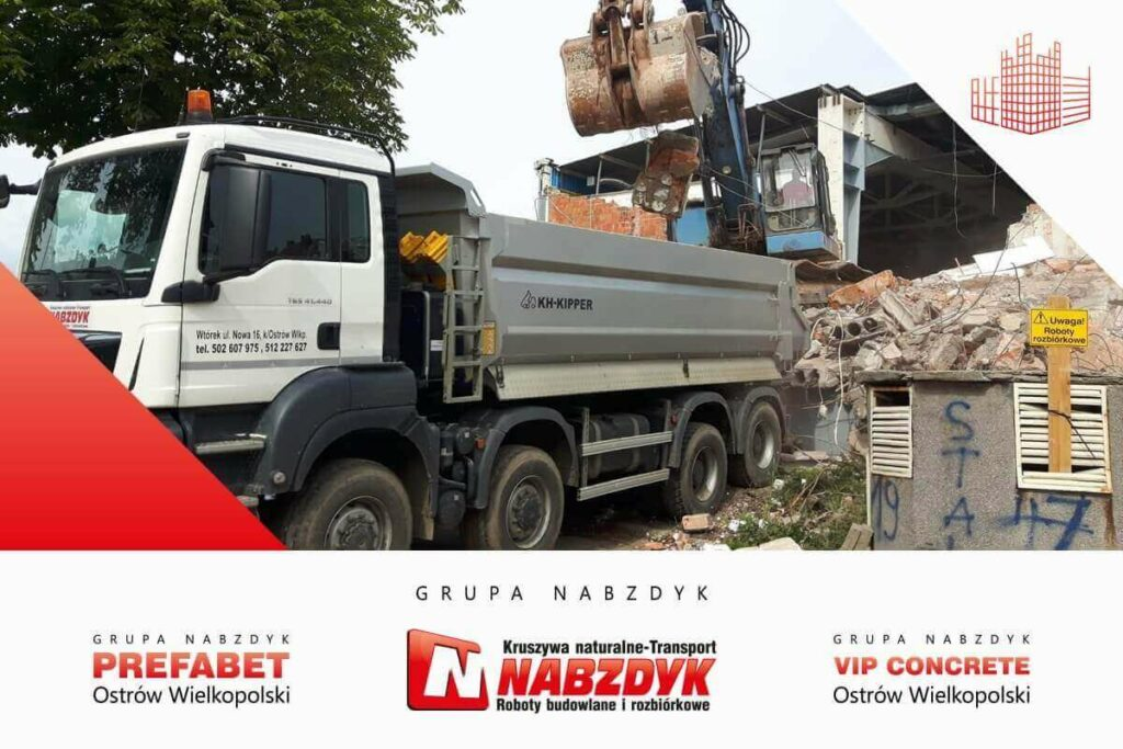 Prace wyburzeniowe i rozbiórkowe Grupa Nabzdyk