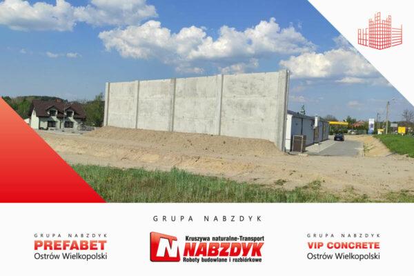 Ściana ochronna z prefabrykatów