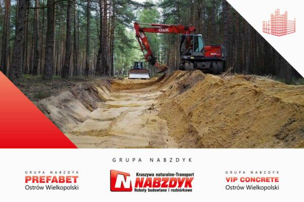 Budowa drogi w lesie w Nowej Soli Grupa Nabzdyk