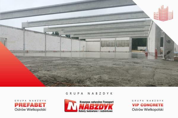 Beton posadzkowy w Ostrowie Wielkopolskim Lidl Polska