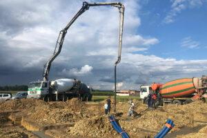 Wylewka betonu dla klienta indywidualnego Ostrów Wielkopolski
